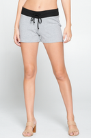 Contrast Waist-band active Casual Cotton Shorts