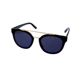 Women's Butterfly Fully Rimmed Fashion Eyelinks Plastic Frame Round Gradient Lens Sunglasses