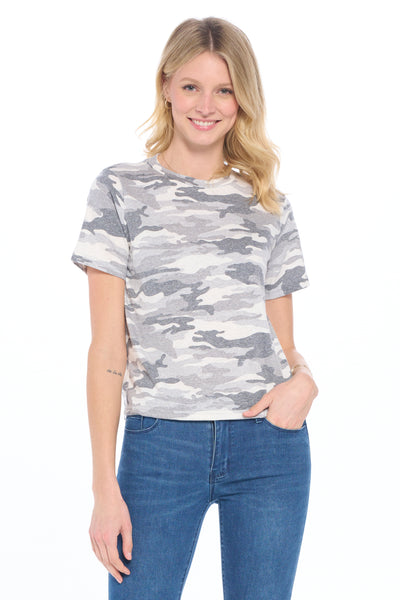 Cargo Printed Triblend Midi Cropped Top