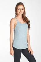 Back 2 Line Spaghetti Plain Yoga Active Top