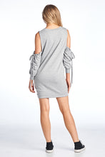 Cold Shoulder Three Quarter String Dress