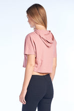 Dolman Short Sleeve Crop Hood