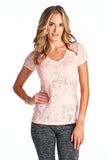 Burnout V Neck Top