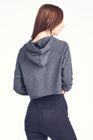 French Terry Crop Hood - Embroidery