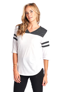 Triblend Raglan 3 Quarter Sleeve V-Neck