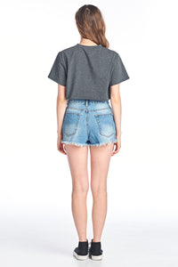 Bottom Low Cut Vintage Crop Top