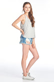 Back Ruffle Layered Tank Top