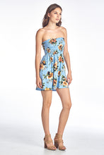 Smacking Tube Flower Printed Dress