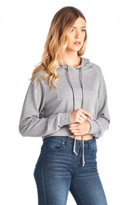 French Terry Crop Hood