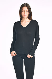 Thermal Dolman V Neck Long Sleeve