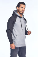 Unisex Adult Raglan Brushed Inside Hoodie
