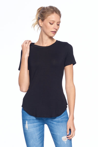 Short Sleeve Basic Crewneck Top