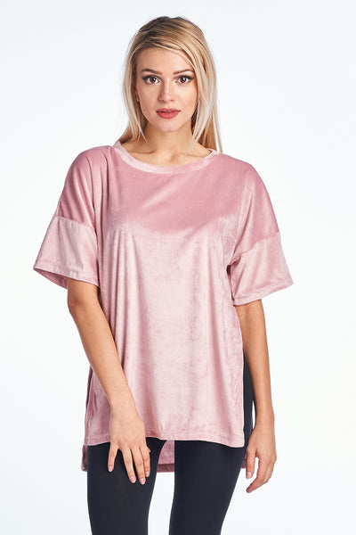 Velvet Side Open Top Plain