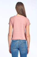 Row Hem Mid Length Crop Top