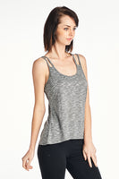 Two Tone Two Line Spaghetti Yoga Active Top
