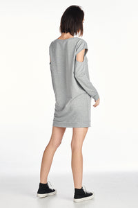 French Terry Open Arm Sweater Dress
