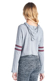 Women's TRIBLEND 2 LINE CROP HOOD