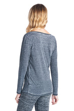 Long Sleeve Mineral Wash V-Neck