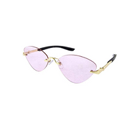 Vintage Cat Eye Rimless Sunglasses