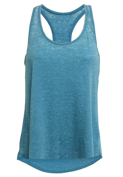 Women's MINERAL WASHED BURNOUT TANK TOP