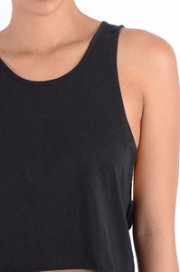 COTTON RIPPED BACK TANK TOP
