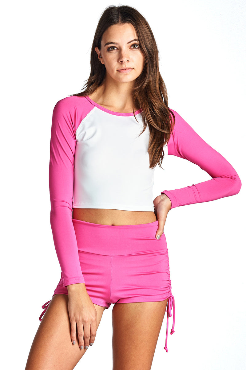 Women's PRIMIUM CROP RASH GUARD