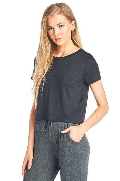 MISSY CROP SHORT SLEEVE TOP