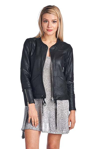 PU JACKET WITH SPANDEX SOFT FEEL JACKET