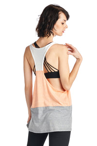 Women's Triblend wide stripe tank top