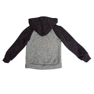 2-7 yrs Cozy and Soft Brush Raglan Hoodie Plain