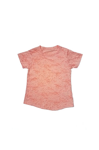 Kids boy and girl burnout round neck top