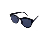 Transparent Plastic Fully Rimmed Round Cateye Sunglasses