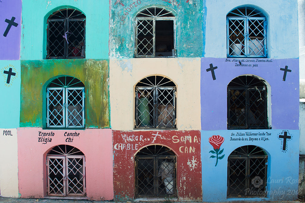 Colorful Tombs; Pomuch, Campeche, Mexico