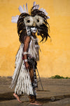 Limited Edition Photograph of a Man in Headdress and Painted Face, San Cristobal de las Casas, Mexico