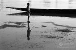 Limited Edition Black and White Photograph of a boy's reflection in Senegal River, Mauritania, West Africa.