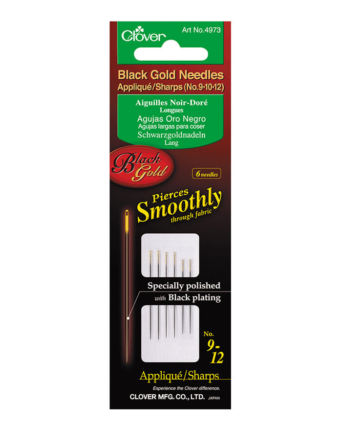 Black gold quilting needles # 9-10-12