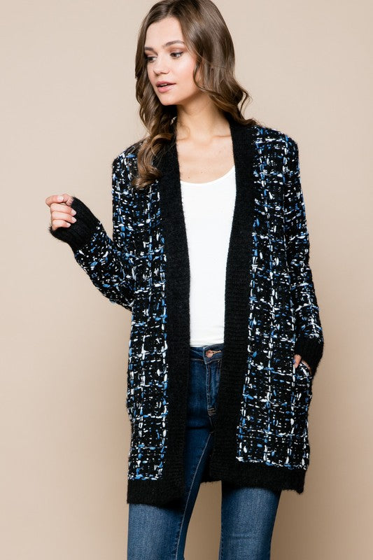 bc90981d9 OVERSIZE TWEED CARDIGAN SWEATER. Size Charts. Standard Sizing ( Inches )