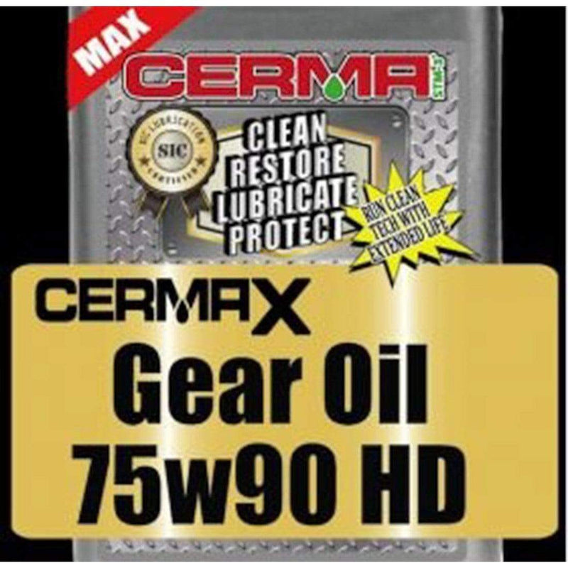 Cerma Ceramic Heavy Duty Gear Oil 75W-90W Quart Transmissions cermatreatment.com