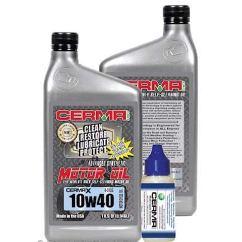Cerma Ceramic Synthetic Oil Value Package for Motorcycles 10w40 Value Package / 2 Quarts