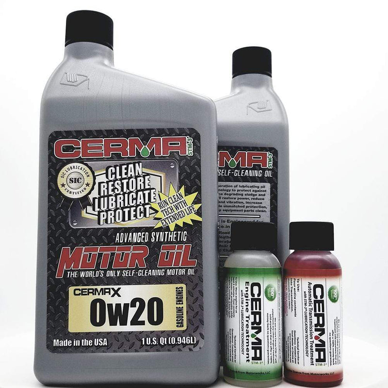 CERMA PERFORMANCE - RACING VALUE PACKAGE-With Automatic Transmission 2oz for auto 0w20 Performance Package / 5 Quarts / No - Do Not Need Turbo-Induction Treatment Value Package Savings cermatreatment.com