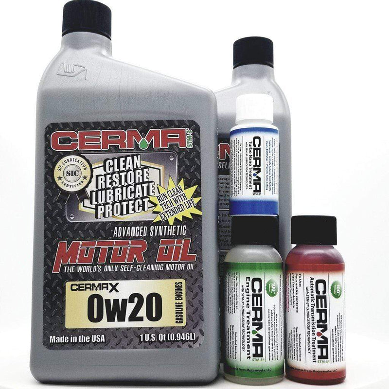 CERMA PERFORMANCE - RACING VALUE PACKAGE-With Automatic Transmission 2oz for auto 0w20 Performance Package / 5 Quarts / Yes - Add Turbo-Induction Treatment 1 oz for auto Value Package Savings cermatreatment.com