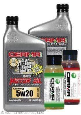 CERMA PERFORMANCE - RACING VALUE PACKAGE-With Automatic Transmission 2oz for auto 5w20 Performance Package / 5 Quarts / No - Do Not Need Turbo-Induction Treatment Value Package Savings cermatreatment.com