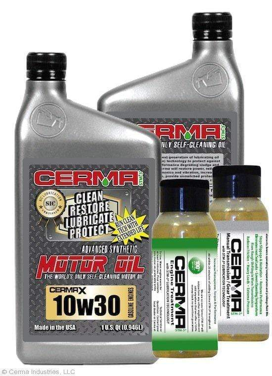 CERMA PERFORMANCE - RACING VALUE PACKAGE-With Manual Transmission 2oz for auto 10w30 Performance Package / 5 Quarts / No - Do Not Need Turbo-Induction Treatment Value Package Savings cermatreatment.com