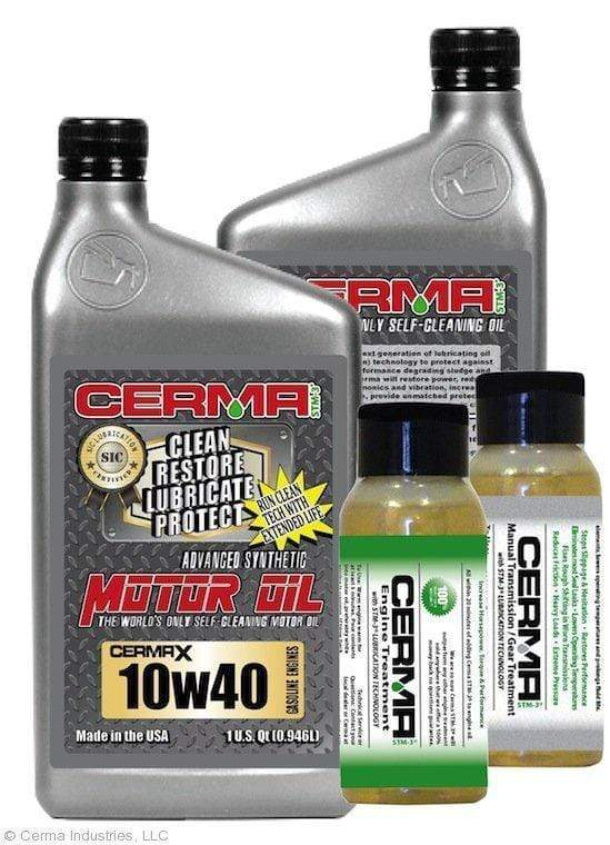 CERMA PERFORMANCE - RACING VALUE PACKAGE-With Manual Transmission 2oz for auto 10w40 Performance Package / 5 Quarts / No - Do Not Need Turbo-Induction Treatment Value Package Savings cermatreatment.com