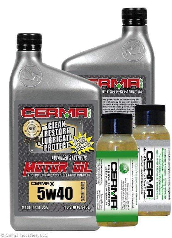 CERMA PERFORMANCE - RACING VALUE PACKAGE-With Manual Transmission 2oz for auto 5w40 Performance Package / 5 Quarts / No - Do Not Need Turbo-Induction Treatment Value Package Savings cermatreatment.com