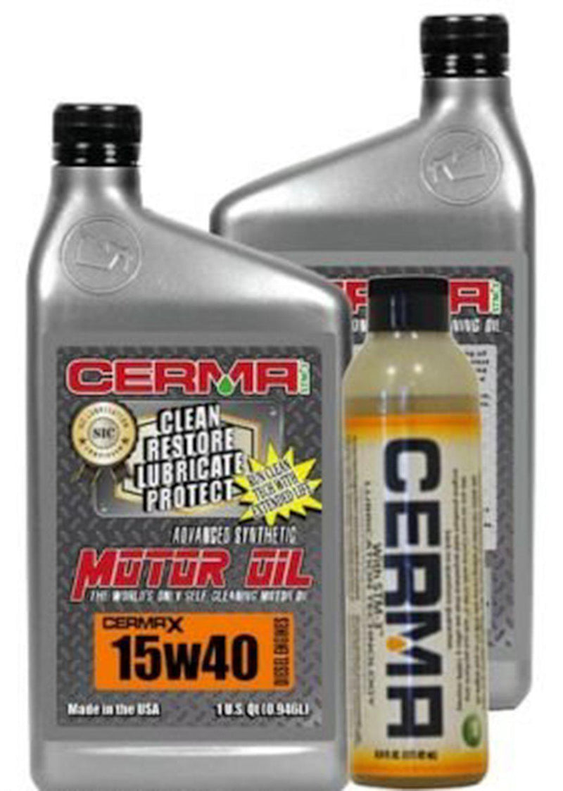 Cermax Diesel Ceramic Synthetic Oil Value Package for Pick Up Truck 15w40 Diesel Value Package / 8 Quarts Value Package Savings cermatreatment.com