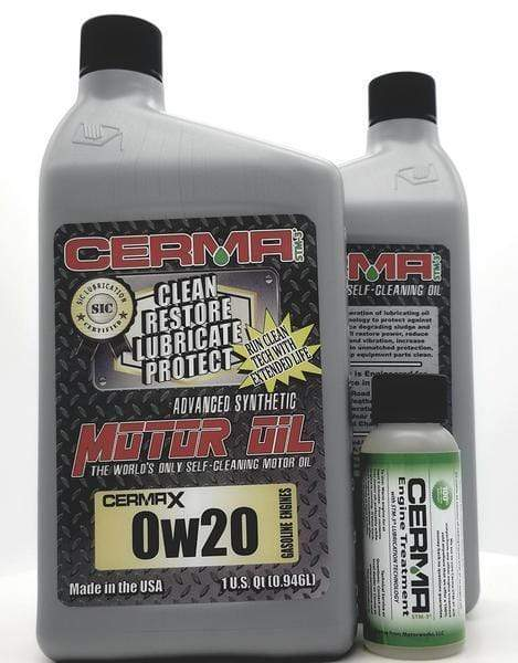 Cermax Performance Ceramic Synthetic Oil Value Package for Gas Engines 0w20 Performance Package Value Package Savings cermatreatment.com