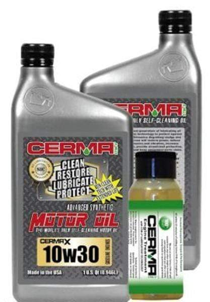 Cermax Performance Ceramic Synthetic Oil Value Package for Gas Engines 10w30 Performance Package Value Package Savings cermatreatment.com