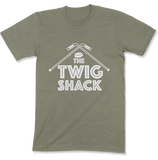 The Twig Shack Premium T-Shirt (white logo)