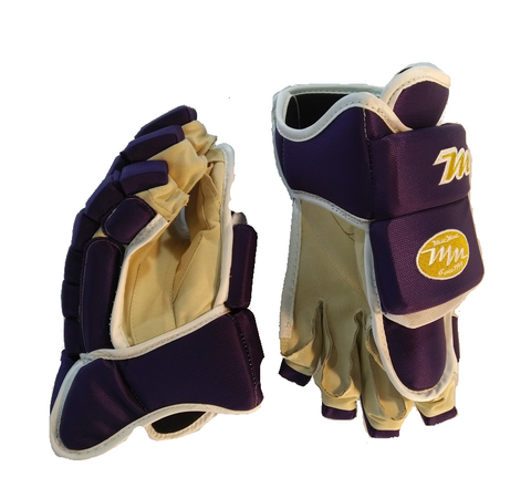 Purple Mic Mac Hockey Gloves